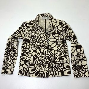 NEW Women's Size Small Chicos 0 Floral Blazer